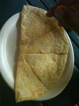 Escobars Mexican Restaurant: kids quesadilla