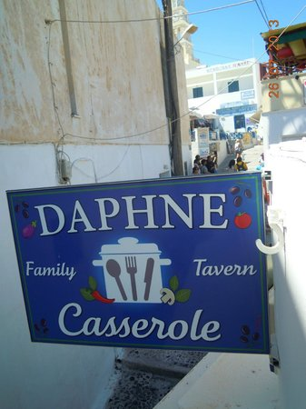 Daphne Family Tavern Casserole: Restaurant Sign