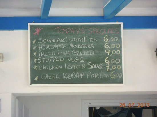 Daphne Casserole : Daily specials - great value