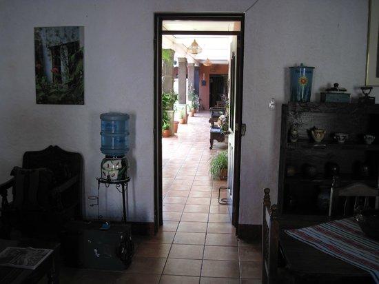 Casa San Bartolome : View from the entrance into the rooms area/garden