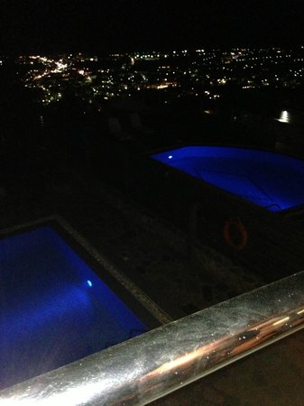Royal Heights Resort: View from room at night
