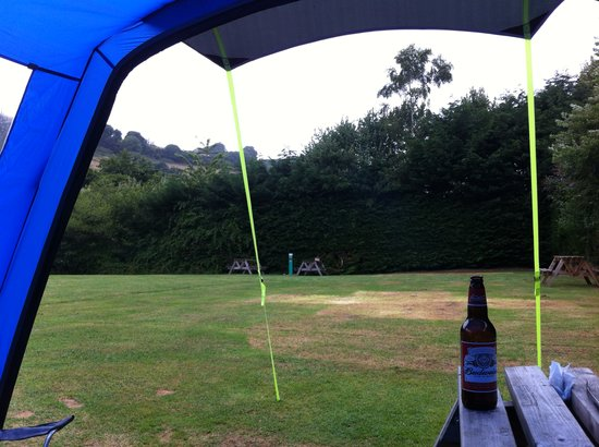 Newberry Valley Caravan & Camping Park: view out of our tent