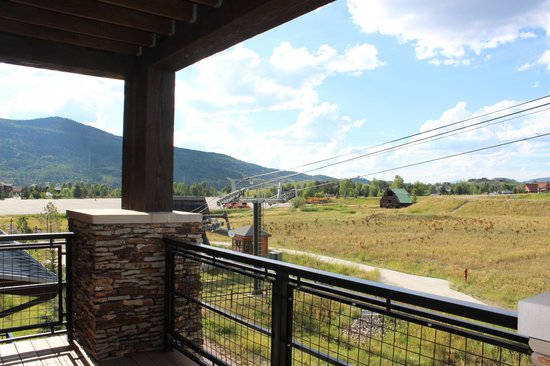 Trailhead Lodge: From the deck