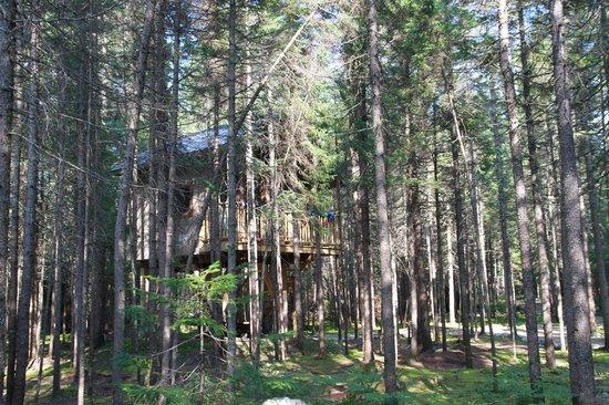 Kabania : Une des cabanes sur pilotis