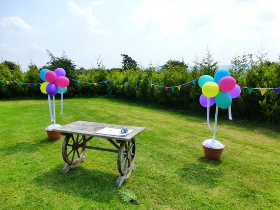 Pinewood Park: Wedding in the tenting field