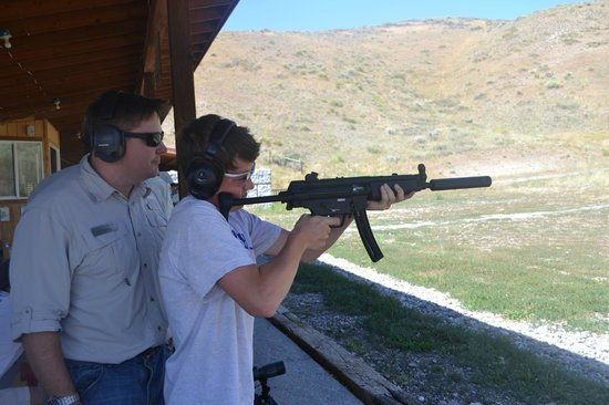 Jackson Hole Shooting Experience : 14 yr old getting instruction on his favorite gun