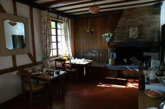 Auberge de l'Abbaye : Breakfast room