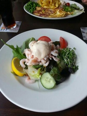 The Mount Pleasant Inn: prawn open sandwich
