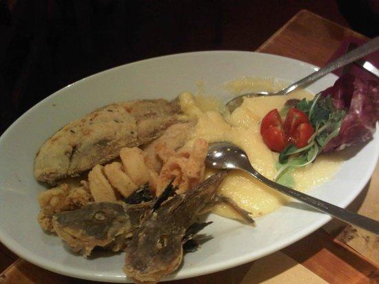 Osteria Antica Adelaide : Eccellente frittura di pesce con vera polenta