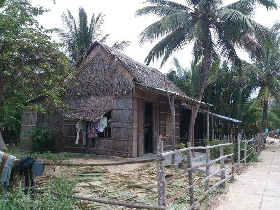 Villa @ Red Bridge: The bamboo village - turn right as you leave the villa