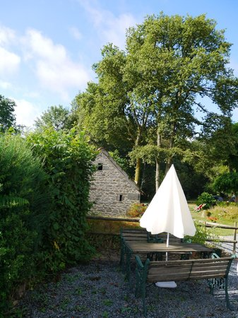 Tipi Holidays in France: View from a dining area