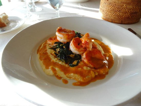 Merriman's Poipu: Shrimp and Polenta