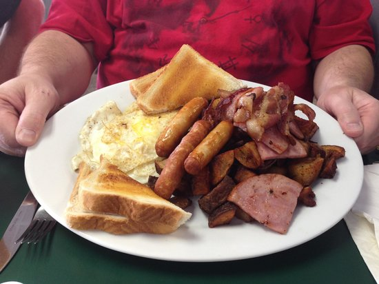 North on 6 : The amazing meat lovers breakfast