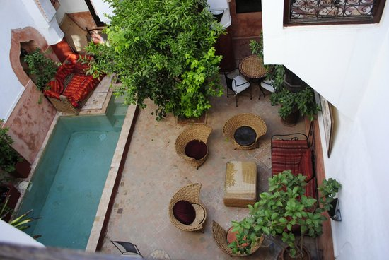 Ryad Dar Ganou : The view from the balcony of our room
