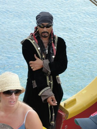 The Jolly Roger : One of the pirates!  Scared some kids, but rather friendly.