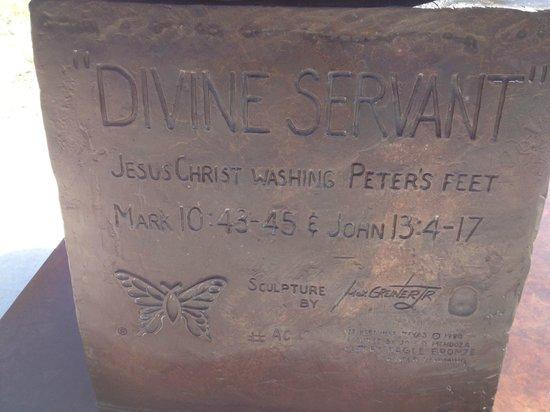 The Coming King Sculpture Prayer Garden: Devine Servant
