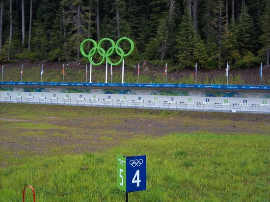Whistler Olympic Park: An empty Biathlon Shooting range at the Olympic Park
