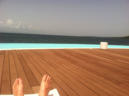 The Bannister Hotel & Yacht Club : and one of several infinity pools...