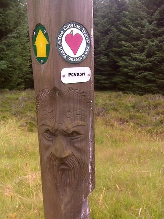 Cateran Trail: One of the many Trail markers