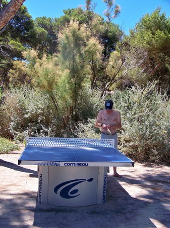 Pierre & Vacances Residence La Pinède : Table ping pong dans la pinède