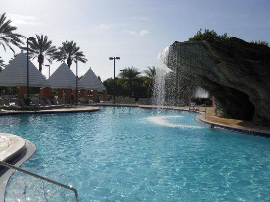 Hilton Grand Vacations at SeaWorld: one of three pools at HGV Seaworld