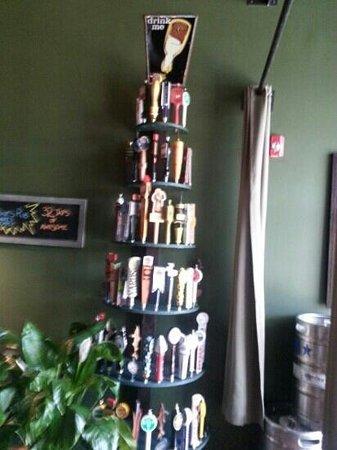 Two Stones Pub: tap handle tree