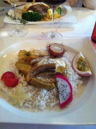 Restaurant Schloss Schartenfels: Reis Casimir nach Exotischer Art