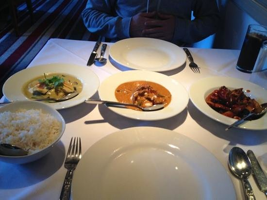 Blue Orchid: selection of main courses