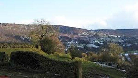 Eyam Plague Village Museum: view from riley graves