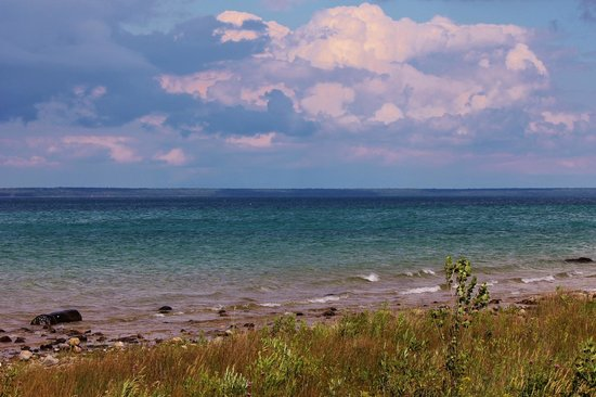 Mackinaw Mill Creek Campground: View of Lake Huron from the campground