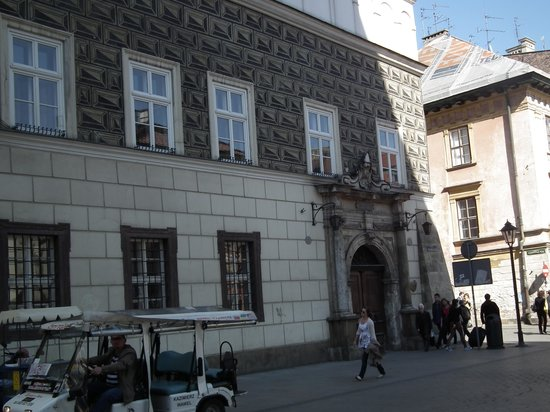 Krakau: The Hipolit House from the St. Mary Square