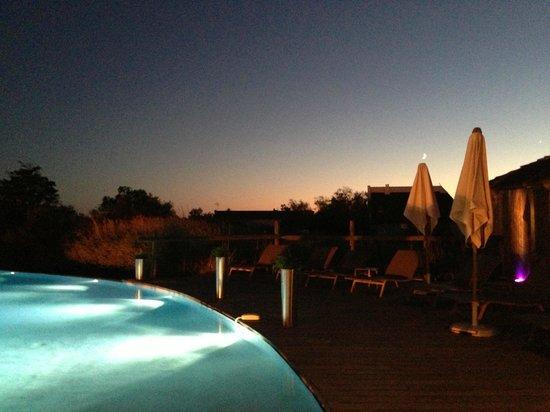 Hotel Les Arnelles : Prise pendant le dîner le 10/08