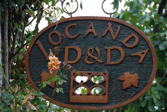Locanda D&D Maso Sasso : Namensschild