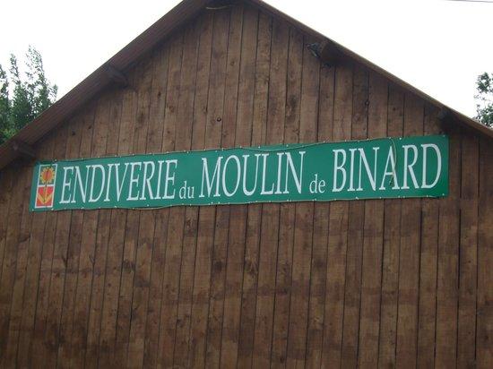 Moulin de Binard : Sign on the barn
