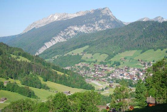 L'Escale : le grand bornand from hillside.