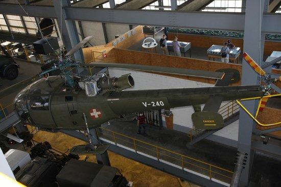 Bad Zurzach, Suíça: Blick auf eine Alouette III der Schweizer Luftwaffe