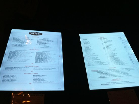American Tap Room Reston 1811 Library St Menu Prices
