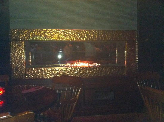 American Tap Room: fireplace