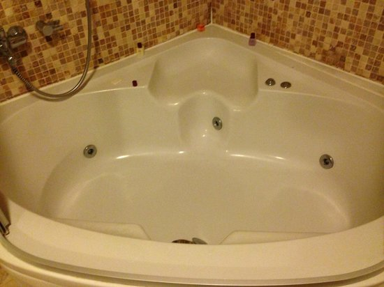 Alfina Hotel : jacuzzi tub in our room! That's what I'm talking about!! with awesome jets!