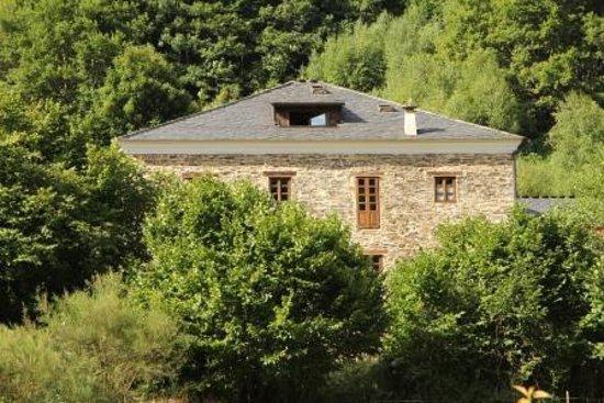 Hotel Casona Cantiga del Agüeira: Vista de la casa desde el bosque
