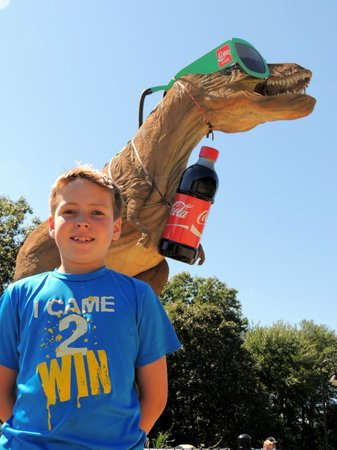 The Dinosaur Place at Nature's Art Village: That's a big Coke!