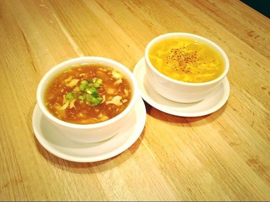 Hot Amp Sour Soup And Egg Drop Soup Picture Of Shen Cafe