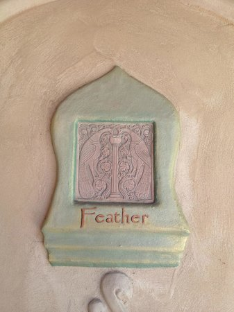 Emerald Iguana Inn: every room has a plaque like this with its own name