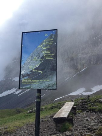 Grindelwald, Suiza: Sign near the via ferrata