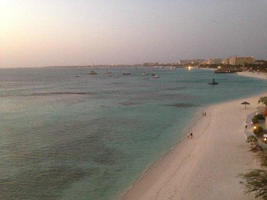 Divi Aruba Phoenix Beach Resort: view from stairs by rm 962