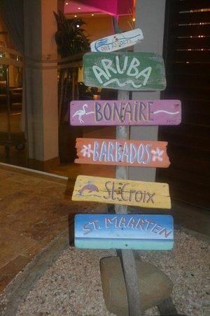 Divi Aruba Phoenix Beach Resort: divi resorts sign