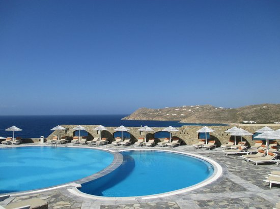 Royal Myconian Resort & Thalasso Spa Center: View of Pool