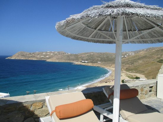 Royal Myconian Resort & Thalasso Spa Center: View from the pool -- gorgeous
