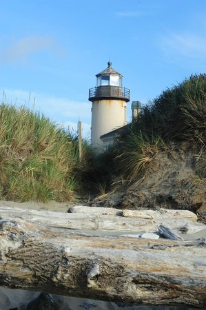 Lighthouse Bed and Breakfast: Lighthouse from the beach
