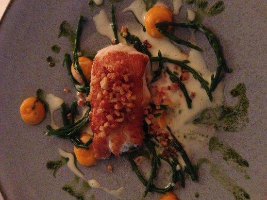 Restaurant Witlof: 3. Gang, Scholle, Seespargel ...